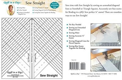 Quilt in a Day Sew Straight Ruler - 735272030003 : quilt in a day ruler - Adamdwight.com