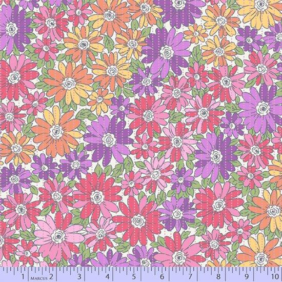 Warm colorwash floral
