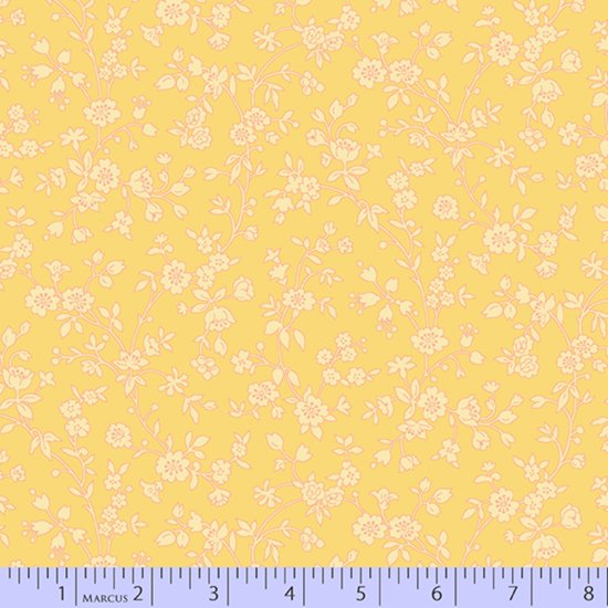 Yellow etched floral