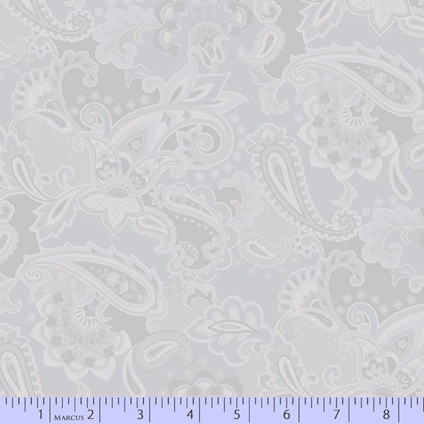 Light grey tonal fancy paisley