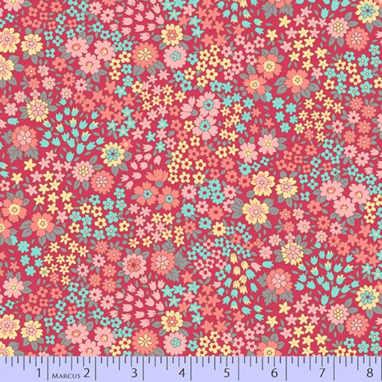 Soft red scattered multi flower