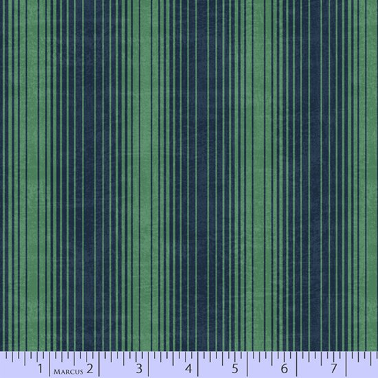 Green and navy dramatic stripe