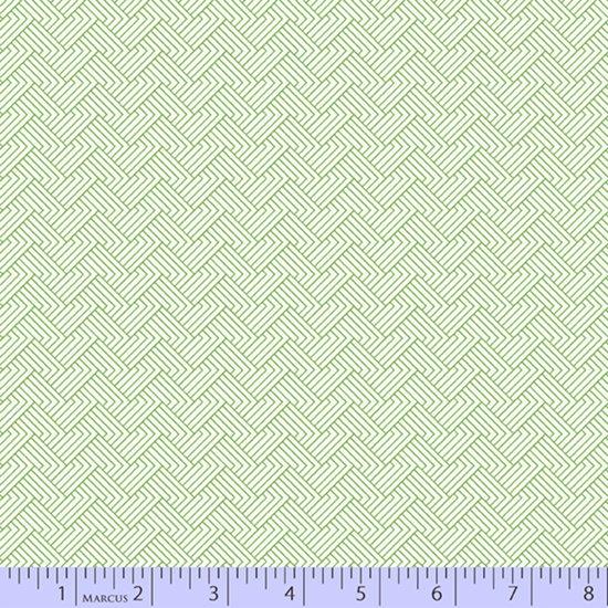 Green maze print