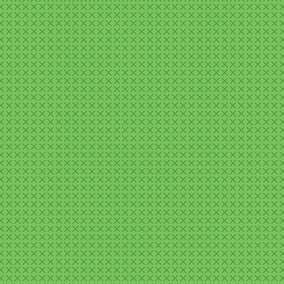 Green cross stitch