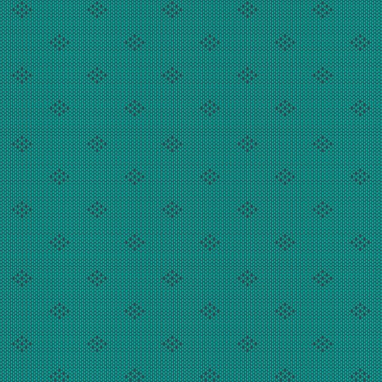 Teal intersect woven yarn-dyed dobby