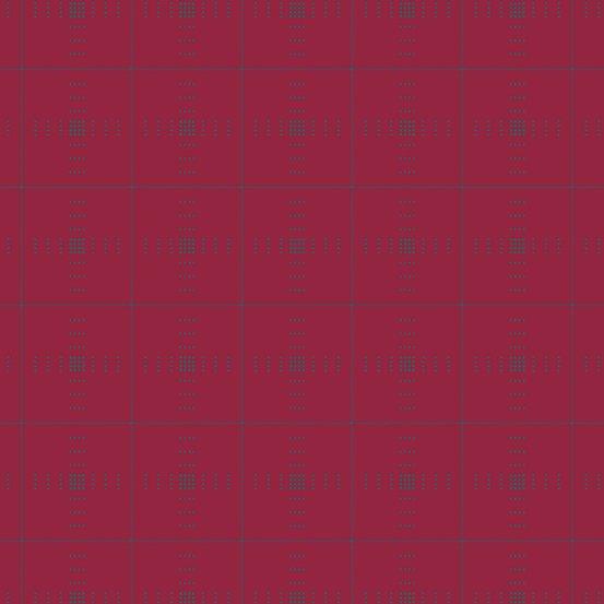 Ruby plaid woven yarn-dyed dobby