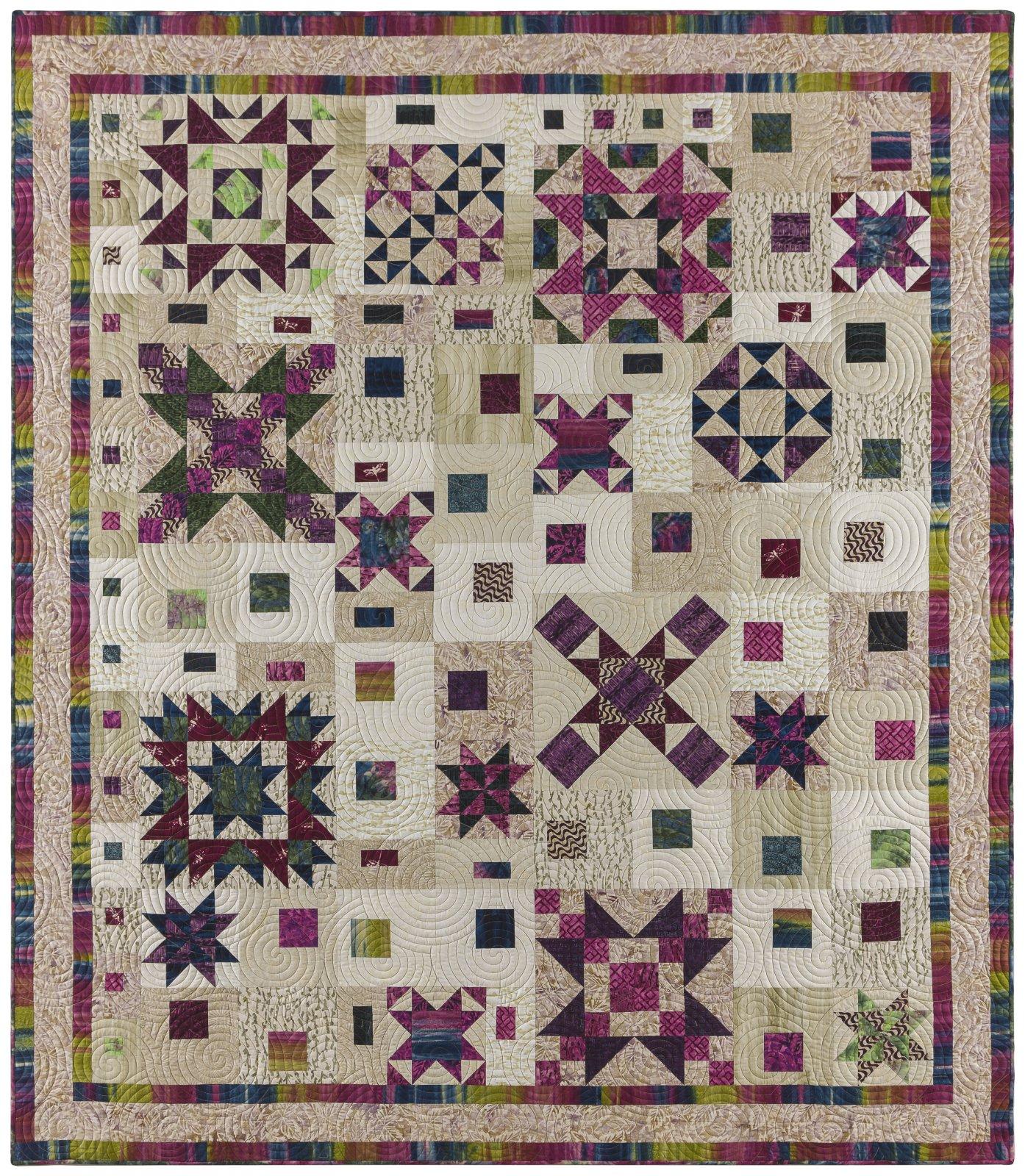 Graphic Gems Garnet & Sapphire BOM pattern