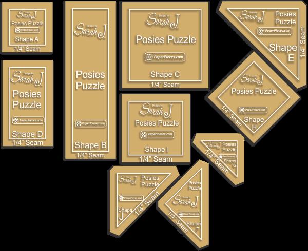 Posies Puzzles acrylic templates