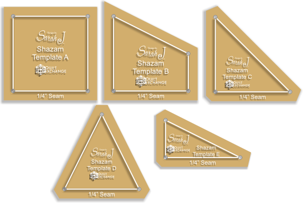 Shazam acrylic templates