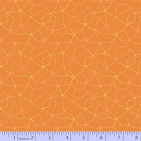 Orange stitched constellations