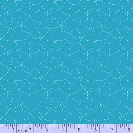 Turquoise stitched constellations