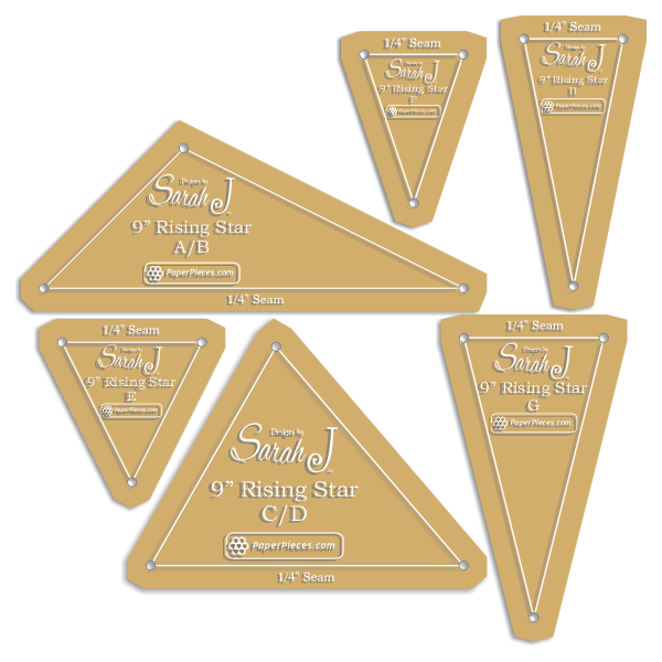 Rising Star acrylic template set