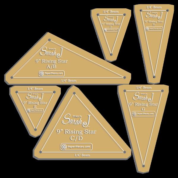 Rising Star acrylic template set