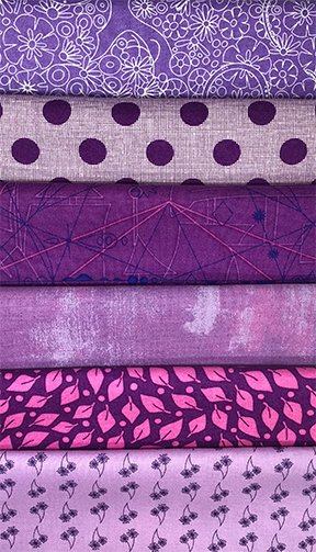 Perfect purples fat quarter bundle