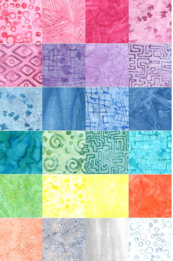 Sew Sweet batik half yard bundle