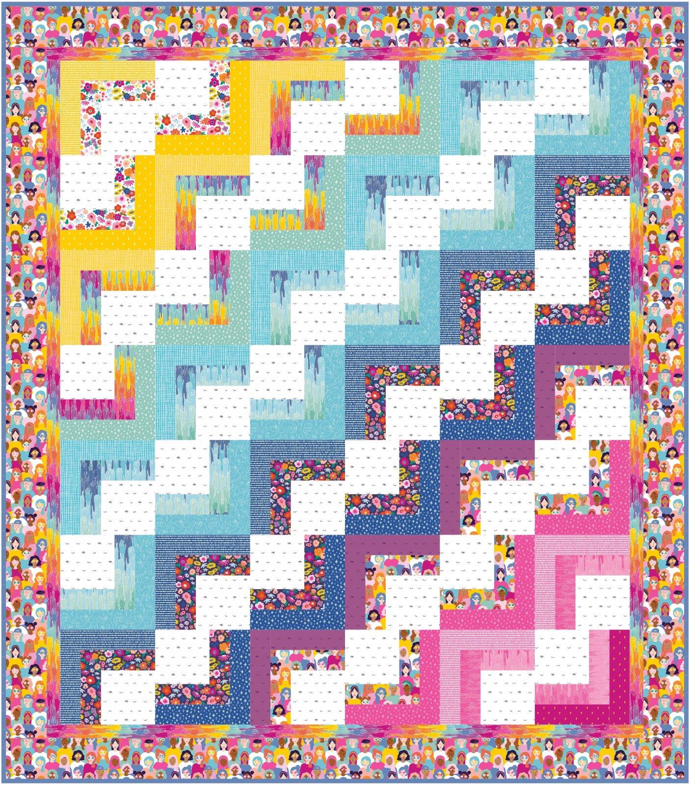 Work, Work! quilt kit