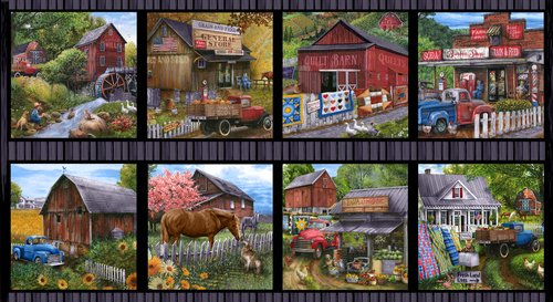 Country Paradise for Blank Quilting ~B-9354 39~ Panel