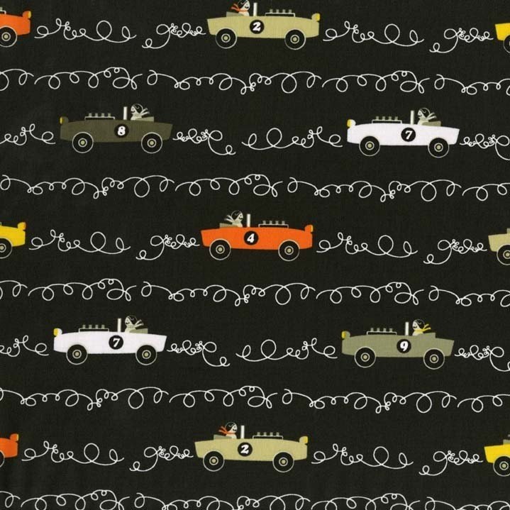 Scribble Cars for Michael Miller Fabrics~DC6097 Taup D~