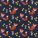 Lil' Foxy on Flannel for Michael Miller Fabrics~FD6947-Navy-D~