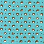 Hedgehog Heaven on Flannel for Michael Miller Fabrics~FD4330-Turq-D~