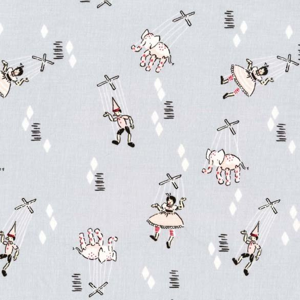 Marionettes for Michael Miller Fabrics~DC5828 GRAY D~