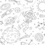 To The Moon and Back Coloring Fabric by Michael Miller Fabrics~DC6809~