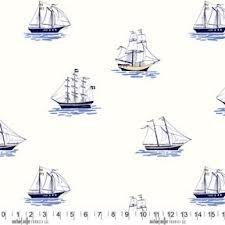 My Favorite Ship for Michael Miller Fabrics~DC5622 BLUE D~