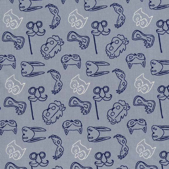 Play Masks for Michael Miller Fabrics~DC5819 GRAY D~