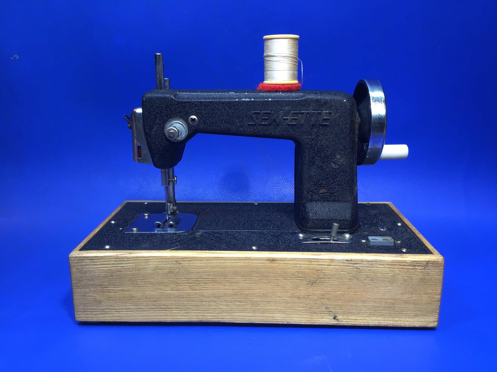 Black SEW-ETTE Toy Sewing Machine