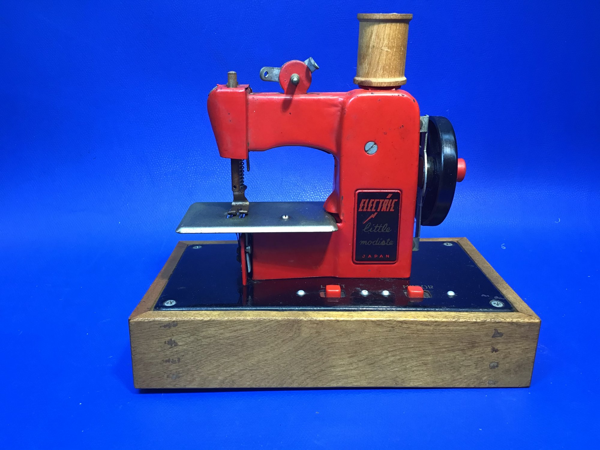 Little Modiste Electric Red and Black Toy Sewing Machine