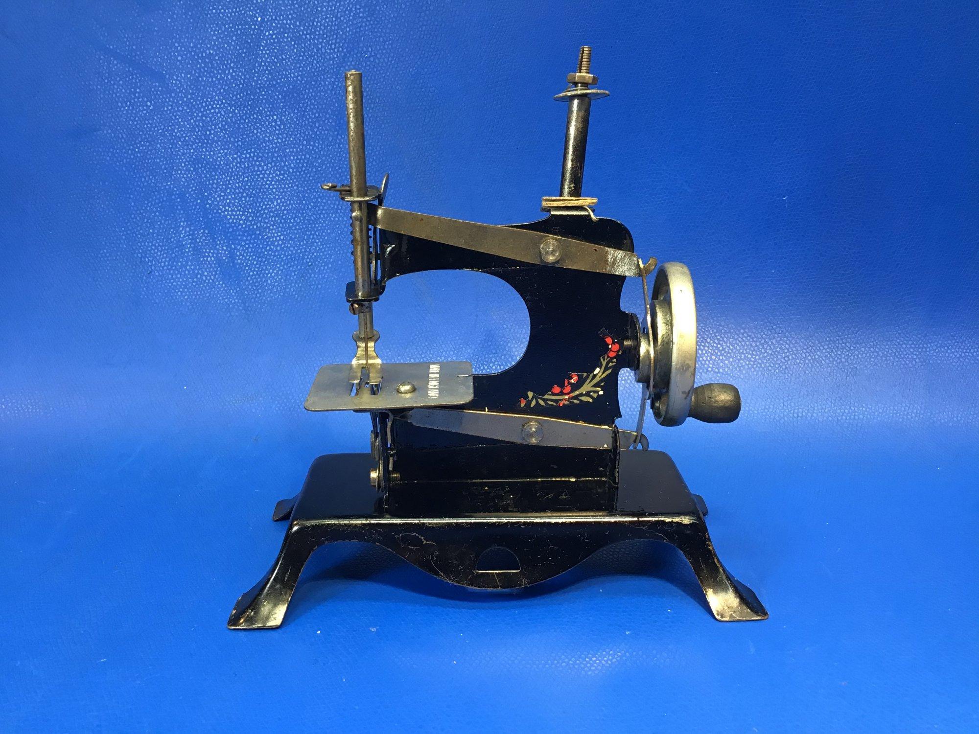Black with Flourish British Toy Sewing Machine