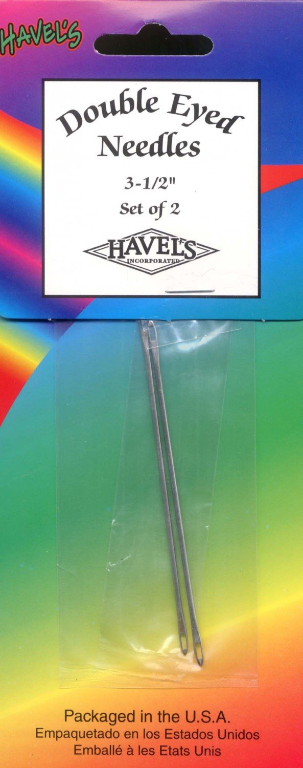 Havels Double Eye Needles 3 1/2in (2 count)