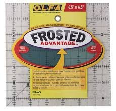 6.5 Square Frosted Ruler Olfa