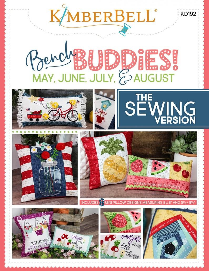 CD Kimberbell Bench Buddy Series May - August Machine Embroidery