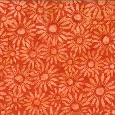Bali Batik Daisies N2851-13 Orange1895444