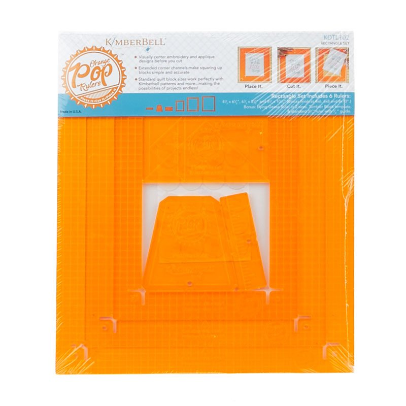 ORANGE POP RULERS RECTANGLE SET