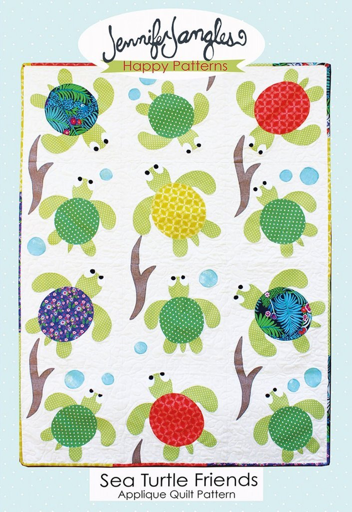 Sea Turtle Friends Applique Quilt Pattern