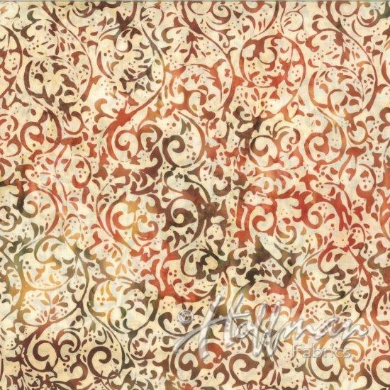 Bali Batiks Scroll Amber Q2134-36