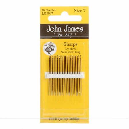 John James Sharps Needles Size 7 (20 count)