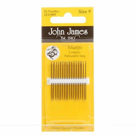 John James Sharps Needles Size 9 (20 count)