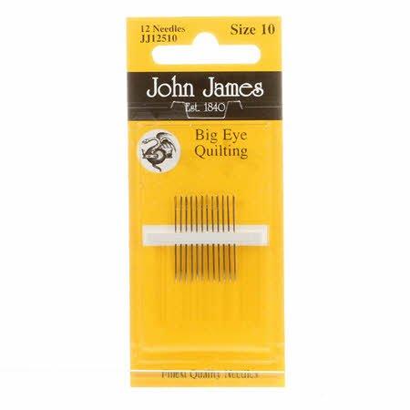 John James Big Eye Between / Quilting Needles Size 10 (12 count)