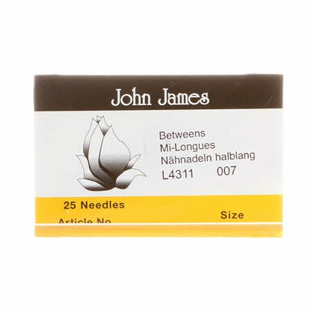 John James Between / Quilting Uncarded Needles Size 7 (25 count)