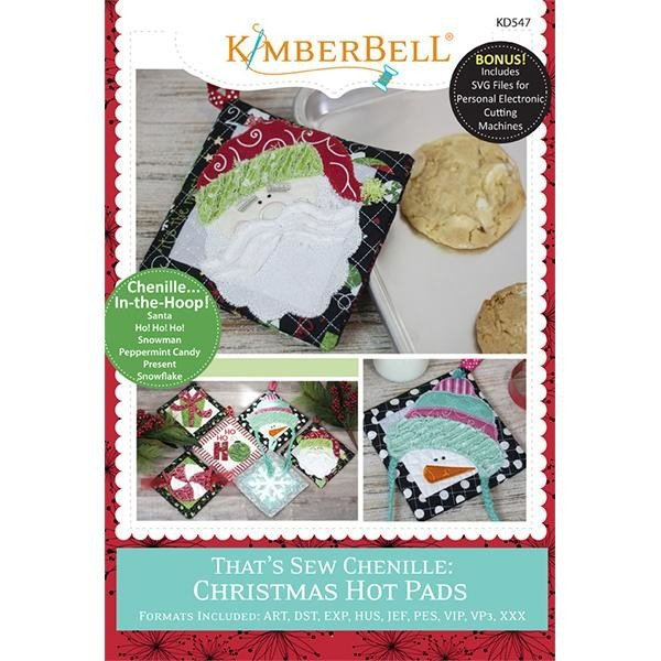 CD Kimberbell That's Sew Chenille Christmas Hot Pads
