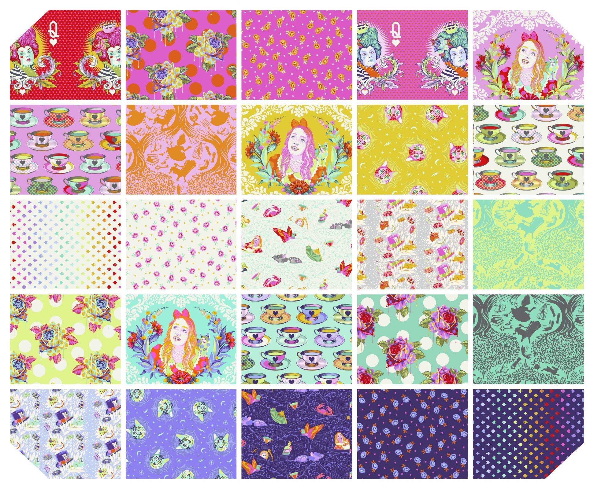 Tula Pink Curiouser & Curiouser-1/2 yd Bundle-25 pcs-Avail 5/2021