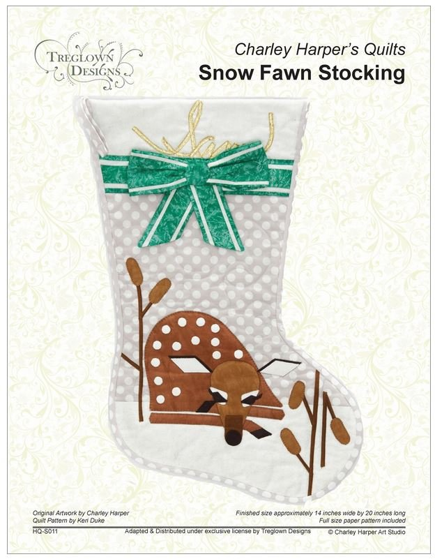 Charley Harper Snow Fawn Stocking