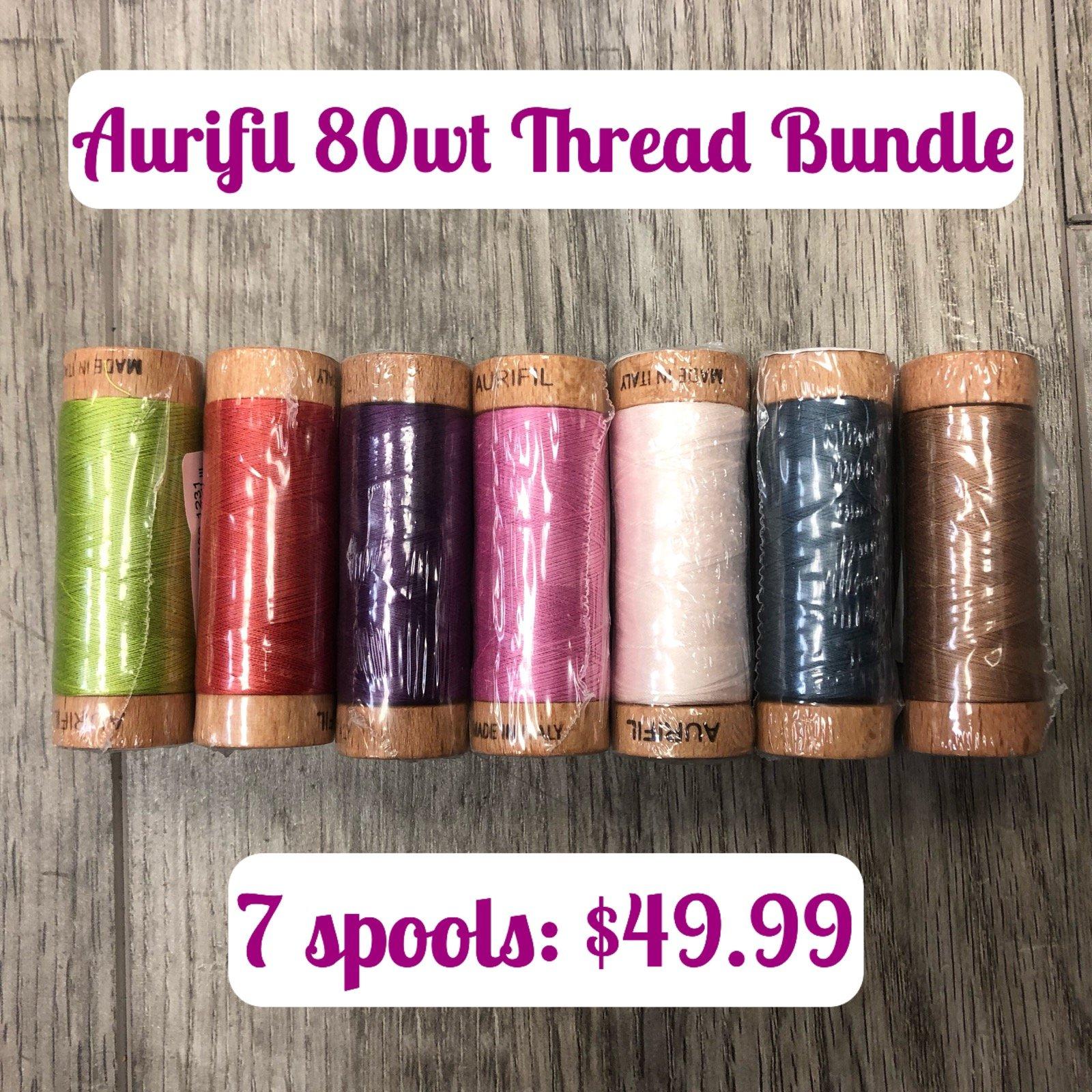 Aurifil Thread Kit 80 wt Bundle (7 Spools)