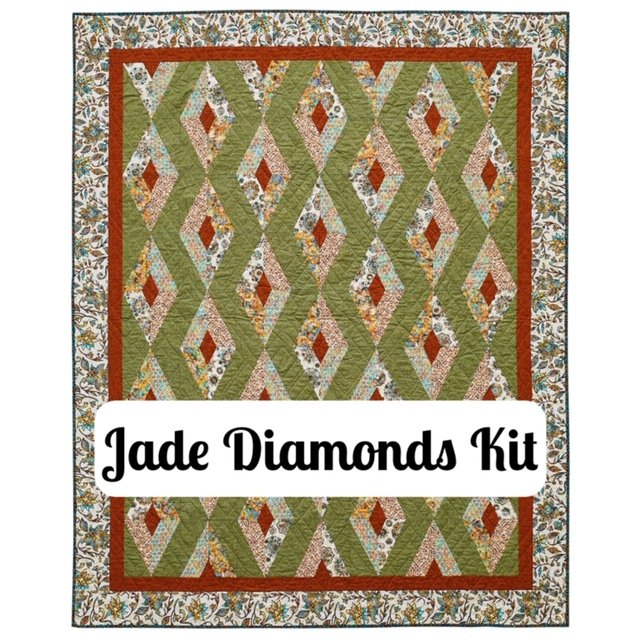 Jade Diamonds Quilt Kit - As see in Quilt Sampler Magazine!