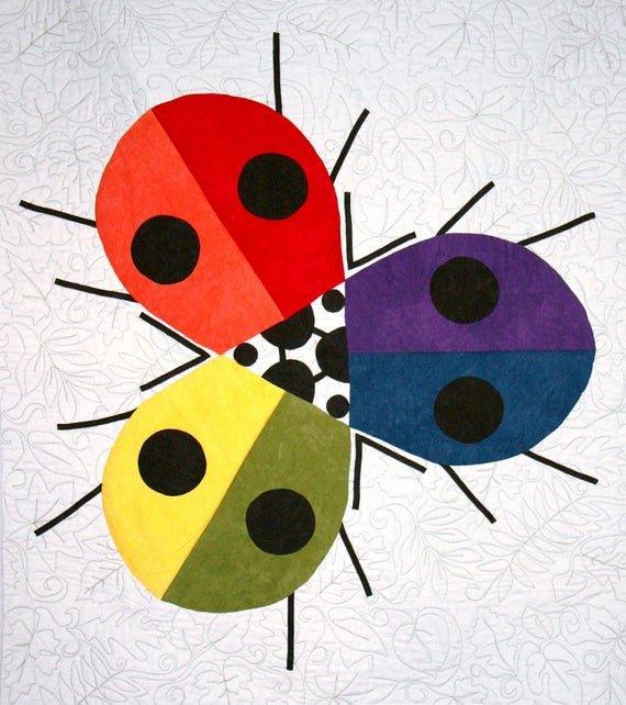 Charley Harper Ladybug Rainbow