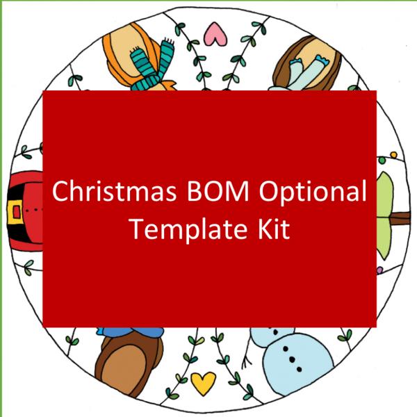 Sarah Fielke BOM Optional Template Kit: Merry & Bright