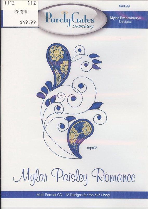 Purely Gates Embroidery Mylar Paisley Romance